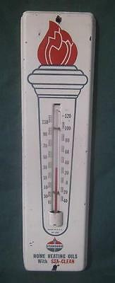 Vintage Standard Oil Heating Sta-Clean Torch Advertising Thermometer Gas Station