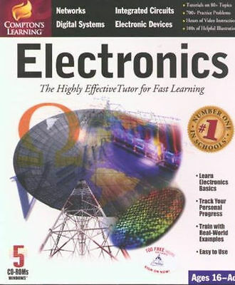 COMPTON'S LEARNING ELECTRONICS New 5CD in Box Integrated Circuits Networks &more
