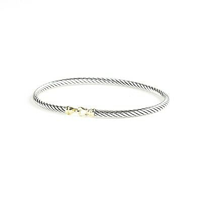 DAVID YURMAN Women's Cable Buckle Bracelet with Gold 3mm $425 NEW