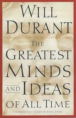 The Greatest Minds and Ideas of All Time by Will Durant Hardcover Book (English)