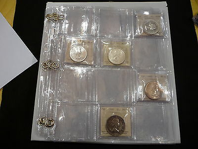 12 POCKET PAGES  FOR  ICCS GRADED COINS  (reinforced eyelets  )  (#9)