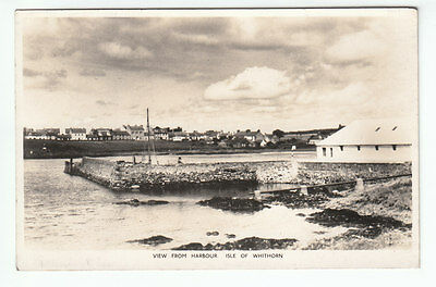 View From Harbour Isle Of Whithorn Wigtown Real Photograph M&L National Series