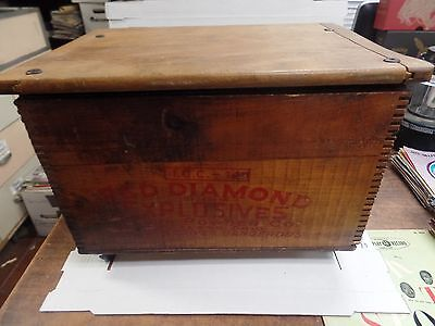 "EMPTY Red Diamond Explosives Branded Chest, 18""x10"" 122716DBE2"