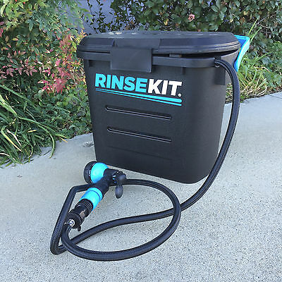 RinseKit Portable Pressurized Shower and Wash Kit 2-Gallon Capacity RKBLK2PK