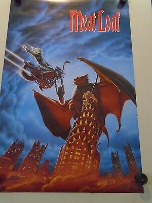 "Meat Loaf - Orig.vintage Poster #8212 / exc.+ new cond. - 23 x 35"" USA"