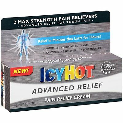 Icy Hot Advanced Pain Relieving Cream 2 max strength 2oz