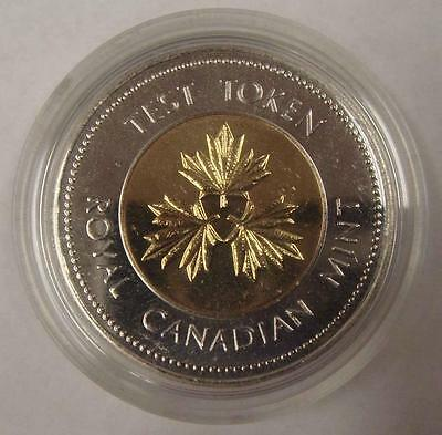 1996 Canada $2.00 Royal Canadian Mint Test Token Toonie Coin in Mint Capsule