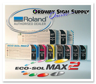 New OEM Original Roland Eco-Sol MAX2 Ink CYMK LC LM MT 440cc Cartridge