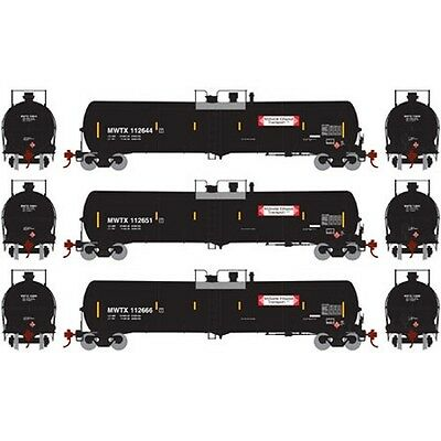 Athearn ATH98462 HO 30,000-Gallon Ethanol Tank Pack MWTX #2 (3) Rolling Stock