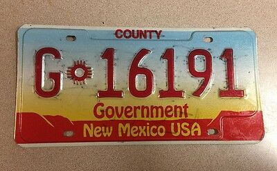 NEW MEXICO - County – Government License Plate. Plate # G 16191. Nice Deal !