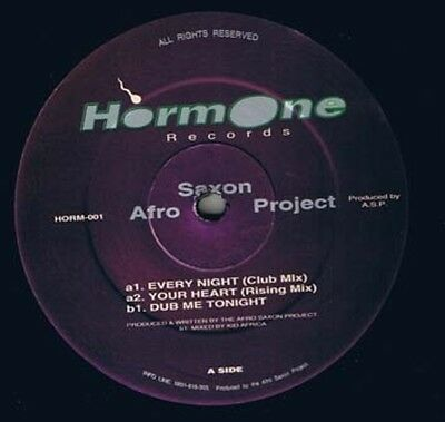 Afro Saxon Project Every Night Vinyl Single 12inch Hormone Records