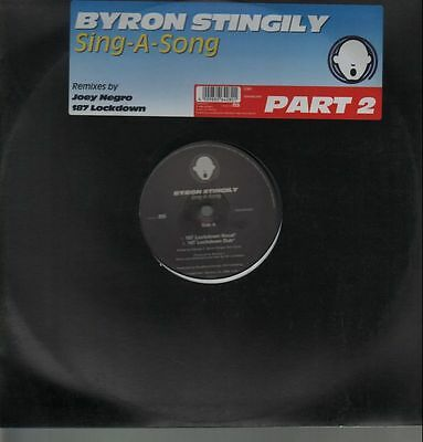 Byron Stingily Sing A Song (Part 2) Vinyl Single 12inch NEAR MINT Peppermint