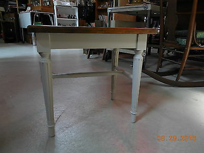 Small Vintage Wood Stool or End Table  #