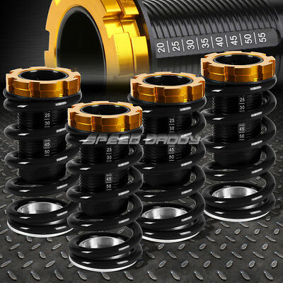 Lowering Black Scaled Suspension Coilover Black Spring For 88-00 Civic Eg Ek/dc