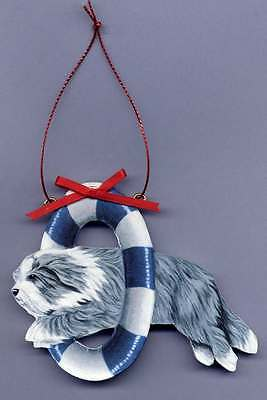 BEARDED COLLIE Wooden AGILITY ORNAMENT - Hand Crafted! - Customized with Name!