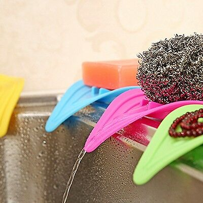 Leaves Drain Soap Box Dish Storage Tray Bathroom Shower Holder Case Container