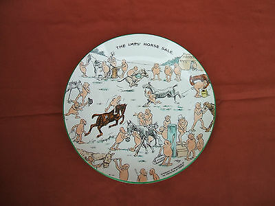 "Old The Imps' Horse Sale Ceramic Plate  By Kind Permission of ""Ideas"" c 1920s"