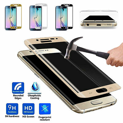 Full Cover Tempered Glass Screen Protector for Samsung Galaxy S6/S7/ Edge Plus