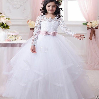 HOT Communion Party Prom Princess Pageant Bridesmaid Wedding Flower Girl Dress