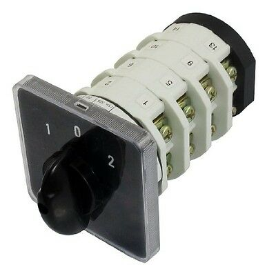 uxcell 690V 32A 16 Terminals 3 Positions On-Off-On Rotary Cam Changeover Switch