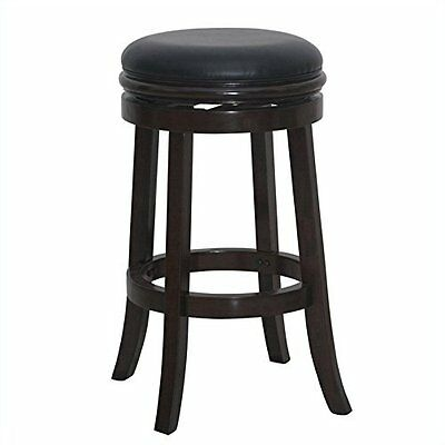 Boraam 29 Inch Backless Swivel Stool Cappuccino NEW