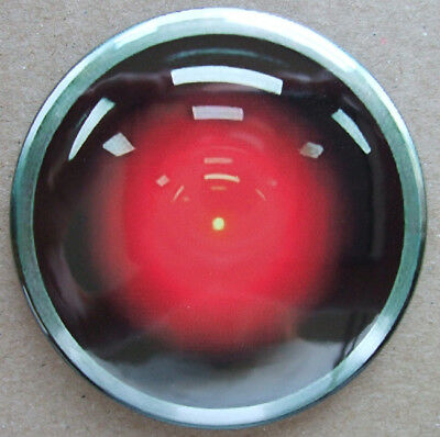 Hal 9000 Eye Round Fridge Magnet - 2001 Classic Cool!