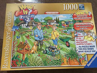 1000 Piece WHAT IF GARDEN OPEN DAY Jigsaw Puzzle by Ravensburger Complete
