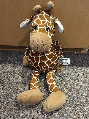 "14"" Standard GIRAFFE Soft Plush Collectable Toy by Russ Berrie Weighted Bottom"