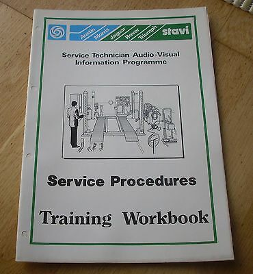 Leyland Cars Training Workbook  Service Procedures Austin Morris Rover