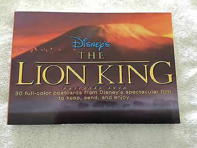 """Rare 1994 Disney First Edition  """"the Lion King""""   Postcard Book-30 Postcards-New"""