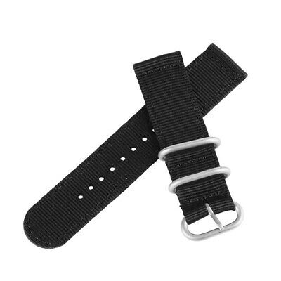 Sport Military 20mm 22mm Nylon Fabric Canvas Wrist Band Strap 7 Colors Men Women