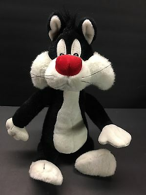 "Sylvester the Cat 20"" Plush Stuffed Animal Warner Brothers Bendable!!!!!"