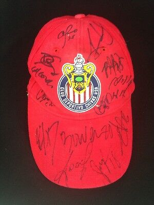 Club Deportivo Chivas USA Team Signed Baseball Cap Hat Many Autograph Soccer MLS