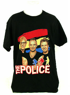 VIntage 2007 THE POLICE Reunion REUNITED WORLD TOUR MUSIC BAND T-Shirt Tee Large