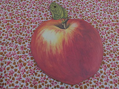 Vintage Apple Shape And Design Melamine Chopping Or Bread Board