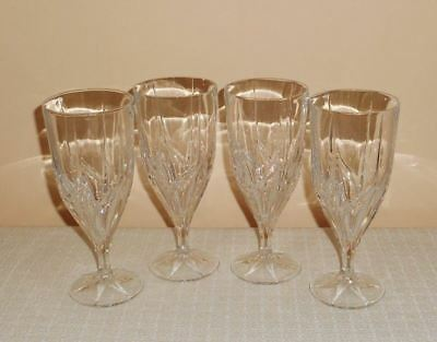 Mikasa Crystal Mistral Iced Tea Glasses Goblets Set of 4