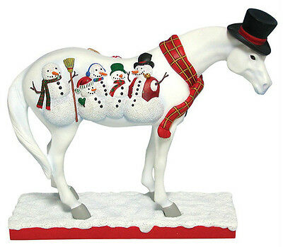 Trail of Painted Ponies Christmas FROSTY PONY FIGURINE New in Box, 1st Edition