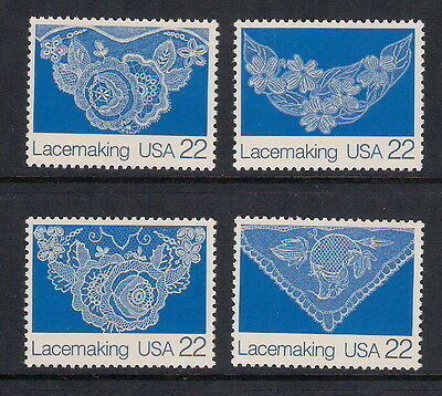 USA US mint stamps - 1987 American Folk Art, Lacemaking, SG2309/2312, MNH