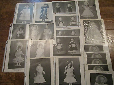 HUGE LOT 19 Vtg Shirley Augustine Doll /Dress Outfit Patterns Assr't Sizes UNCUT