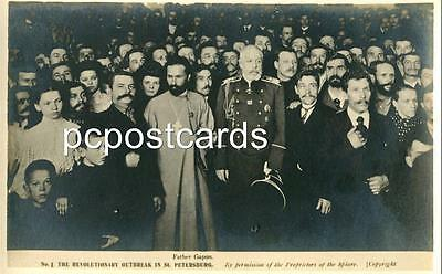 Set of Six Old Real Photo Postcards  Revolutionary Outbreak St Petersburg Russia