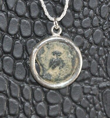 Helmeted Athena & Owl Authentic Ancient Coin 925 Sterling Silver Pendant & Chain