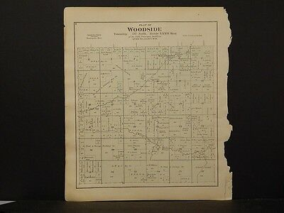 Minnesota, Otter Tail County Map, 1884 Woodside or Eastern !J2#09