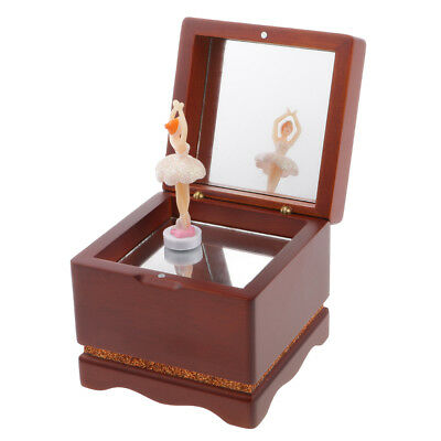 Classic Wooden Wind up Dancing Ballerina Music Box Kids Collectible Gift