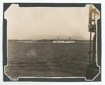 PHOTOGRAPHS-CEYLON-COLOMBO. A Naval Vessel off Colombo. 1904.