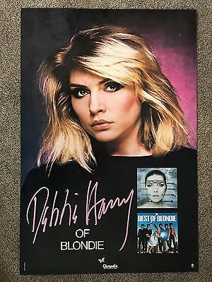 "Debbie Harry of Blondie Promo Poster ~ Original ~ Excellent condition! 33"" x 22"""