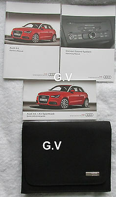 Audi A1 Owners Handbook Manual With Wallet 2011 Free Post 122.561.8X1.20