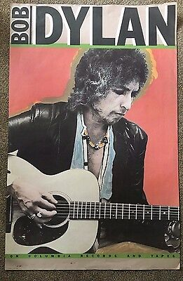 """RARE ~ Bob Dylan ~ PROMO POSTER 28""""X 44"""" ~ Columbia Records ~ Vintage ~Excellent"""