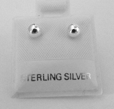 Sterling Silver 5mm BALL STUD EARRINGS -1962