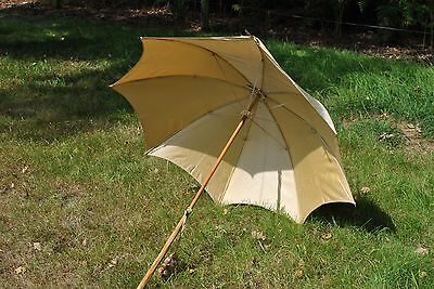 Original vinatge / antique 1900s 1910s Edwardian fabric parasol umbrella
