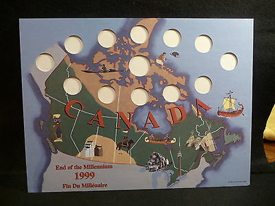 CANADA : 1999 END of the MILLENNIUM  25 CENT & $2 NUNAVUT   HOLDER  (#5)